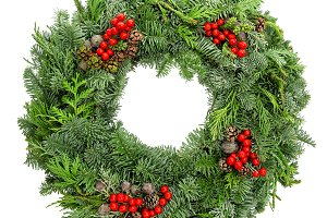 Christmas wreath nature art