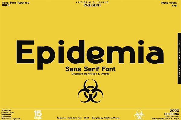 Epidemia - Sans Serif Font Family