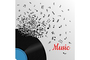 Retro music vintage poster