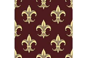 Seamless background pattern of yello