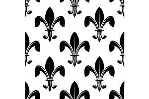 Black and white seamles fleur de lys