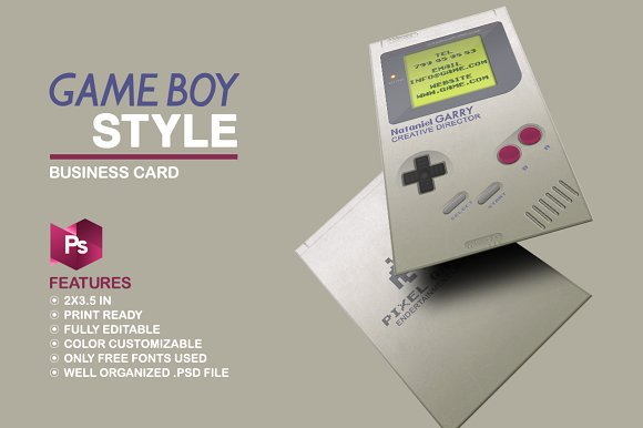 Gameboy Business Card Business Card Templates Creative Market