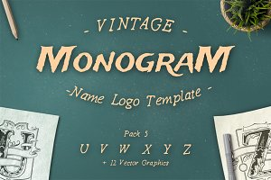 Vintage Monogram Logo Template No. 5