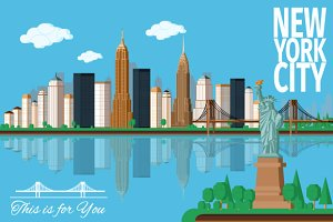 NEW YORK City / Flat illustration