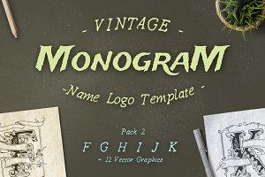 Vintage Monogram Logo Template No. 2