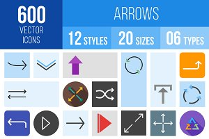 600 Arrows Icons