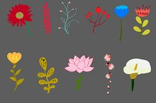 vector beautiful flowers