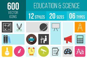 600 Education & Science Icons