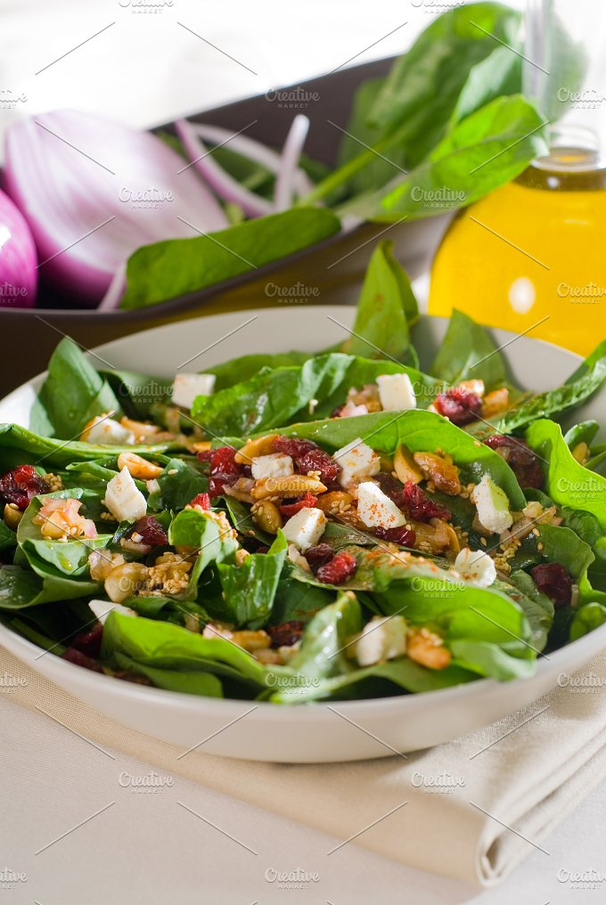 spinach salad 6.jpg - Food & Drink