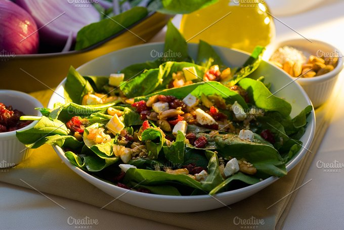 spinach salad 15.jpg - Food & Drink