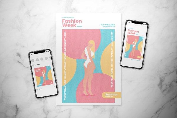 Summer Fashion Flyer Set