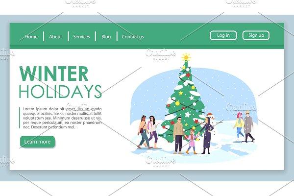 Winter holidays landing page