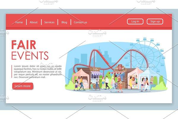 Fair events landing page