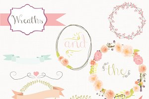 Floral Wreath Vectors