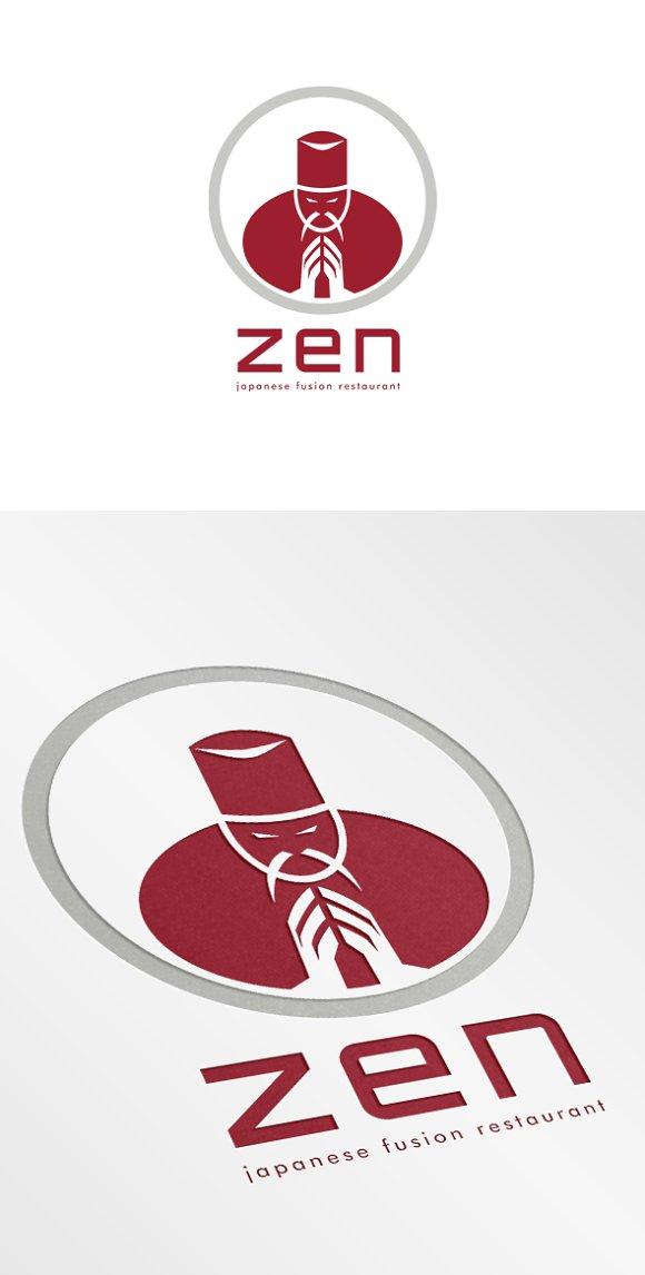 Zen Japanese Fusion Restaurant Logo ~ Logo Templates on ...
