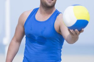 beach volleyball player portrait