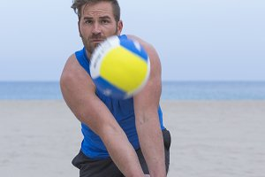 player playing beach volley