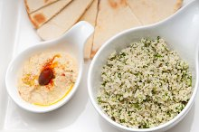 tabouli couscous  and hummus with pita bread 03.jpg