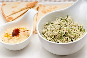 tabouli couscous  and hummus with pita bread 02.jpg