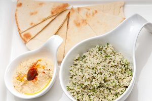 tabouli couscous  and hummus with pita bread 04.jpg