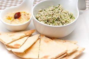 tabouli couscous  and hummus with pita bread 06.jpg