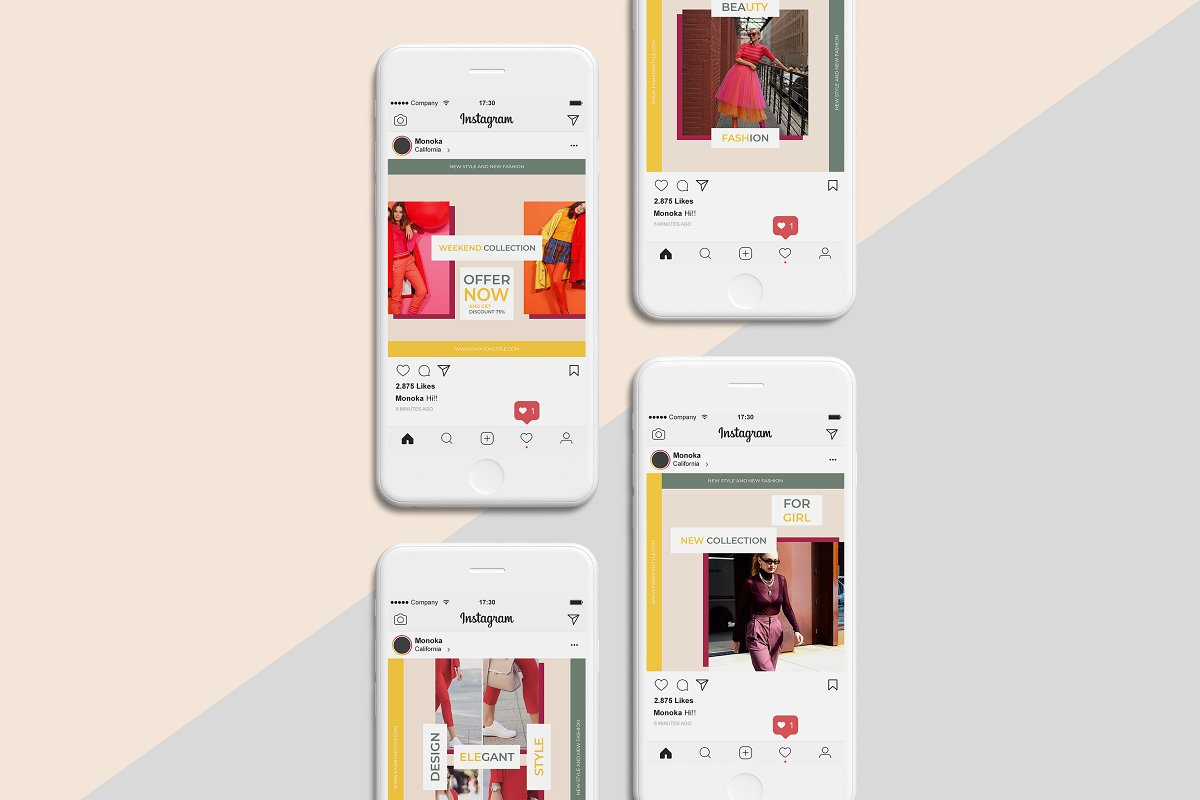 Monoka Animated Instagram Post&Story in Instagram Templates - product preview 5