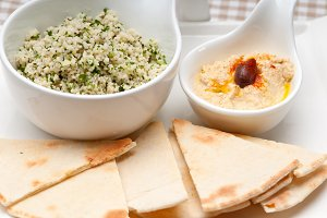 tabouli couscous  and hummus with pita bread 07.jpg