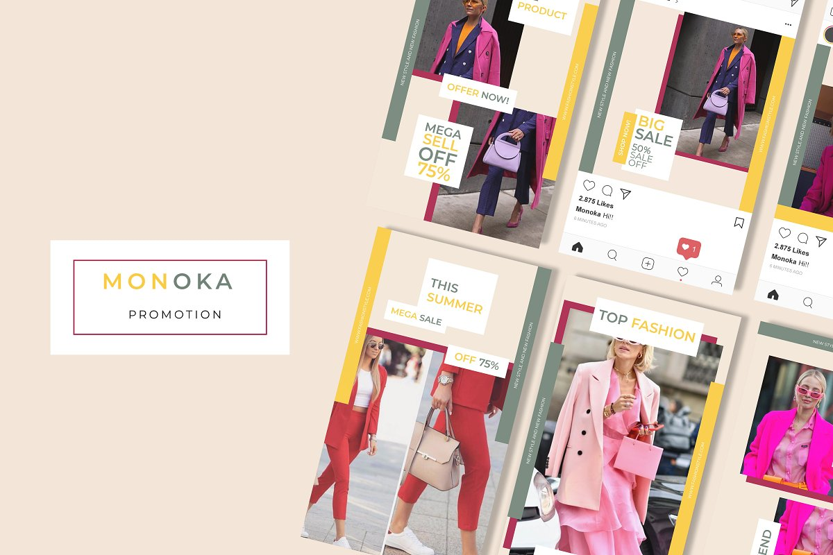 Monoka Animated Instagram Post&Story in Instagram Templates - product preview 7