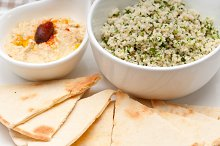 tabouli couscous  and hummus with pita bread 05.jpg