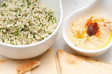 tabouli couscous  and hummus with pita bread 08.jpg