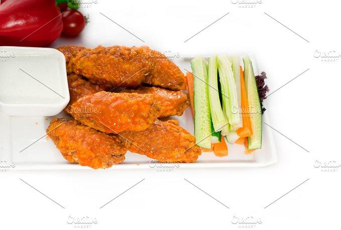 spicy chicken wings and vegetables 01.jpg - Food & Drink