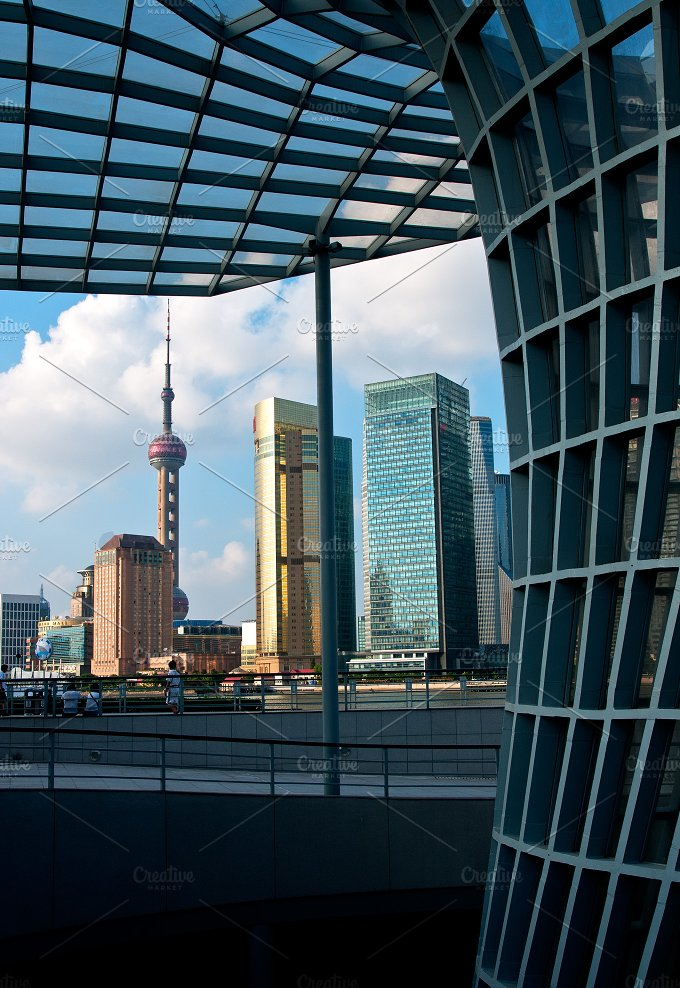 Shanghai pudong view from the bund 12.jpg - Architecture