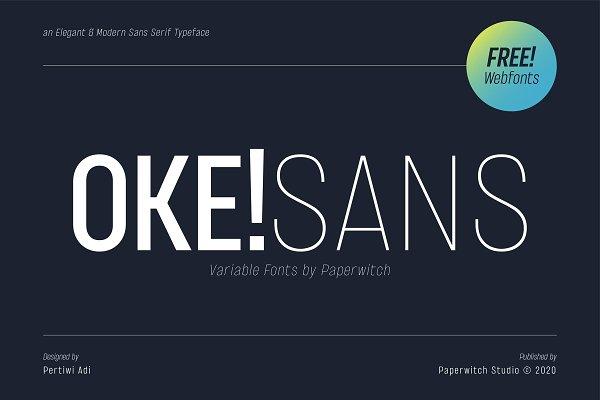 OKE! Sans Family ( Variable Fonts )