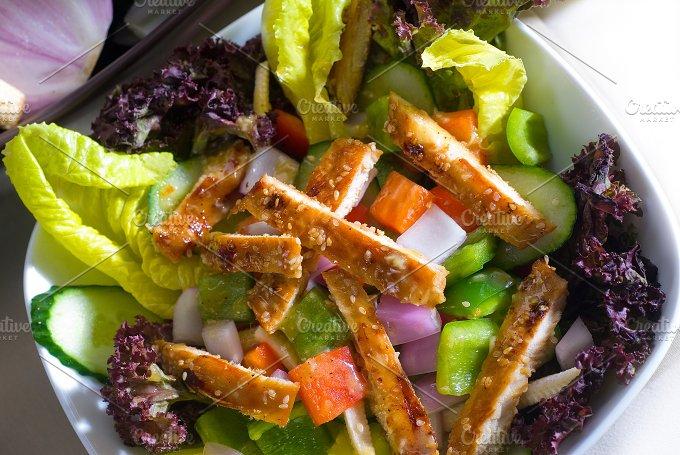 sesame chicken salad 8.jpg - Food & Drink