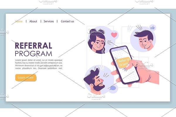 Referral program landing page