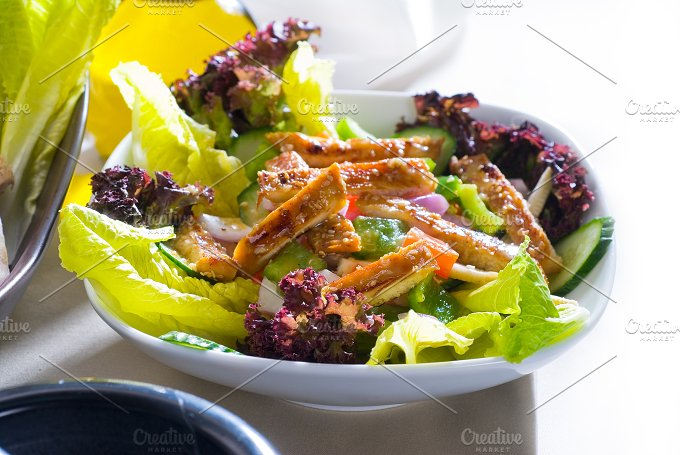 sesame chicken salad 6.jpg - Food & Drink