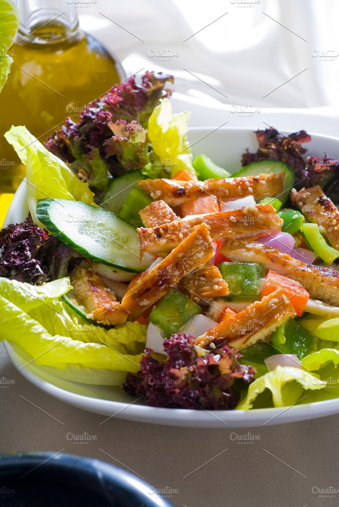 sesame chicken salad 27.jpg - Food & Drink