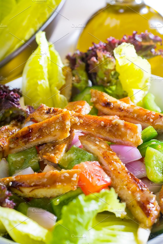 sesame chicken salad 33.jpg - Food & Drink
