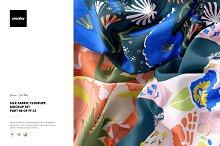 Silk Fabric Closeups Mockup Set