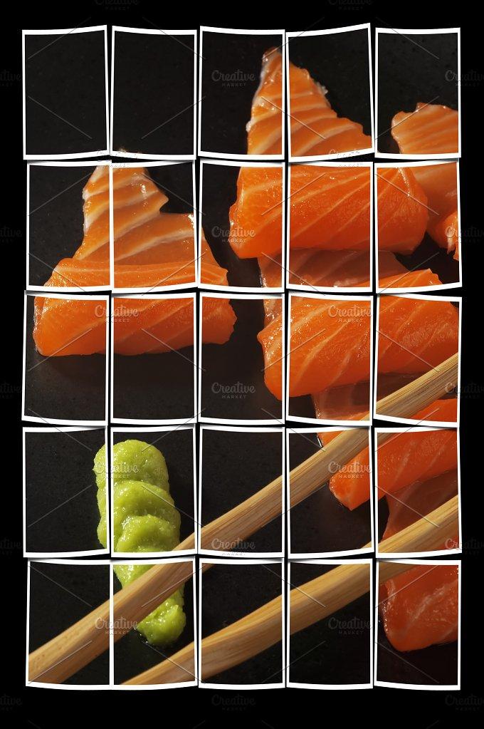 salmon sashimi black 2.jpg - Food & Drink