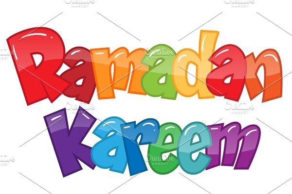 Coloring Page Ramadan Kareem Pre Designed Illustrator Graphics Creative Market