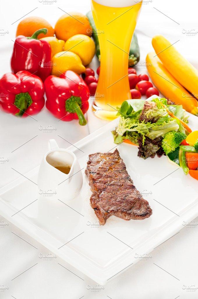 ribeye beef steak with fresh salad 03.jpg - Food & Drink