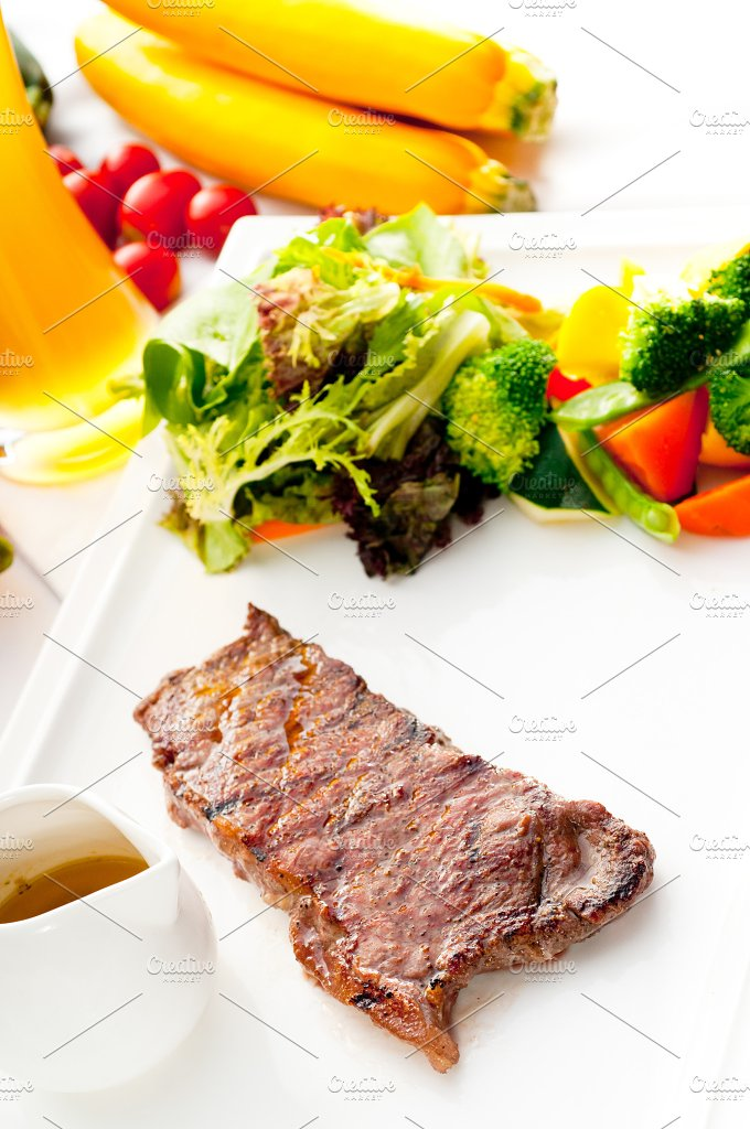 ribeye beef steak with fresh salad 07.jpg - Food & Drink