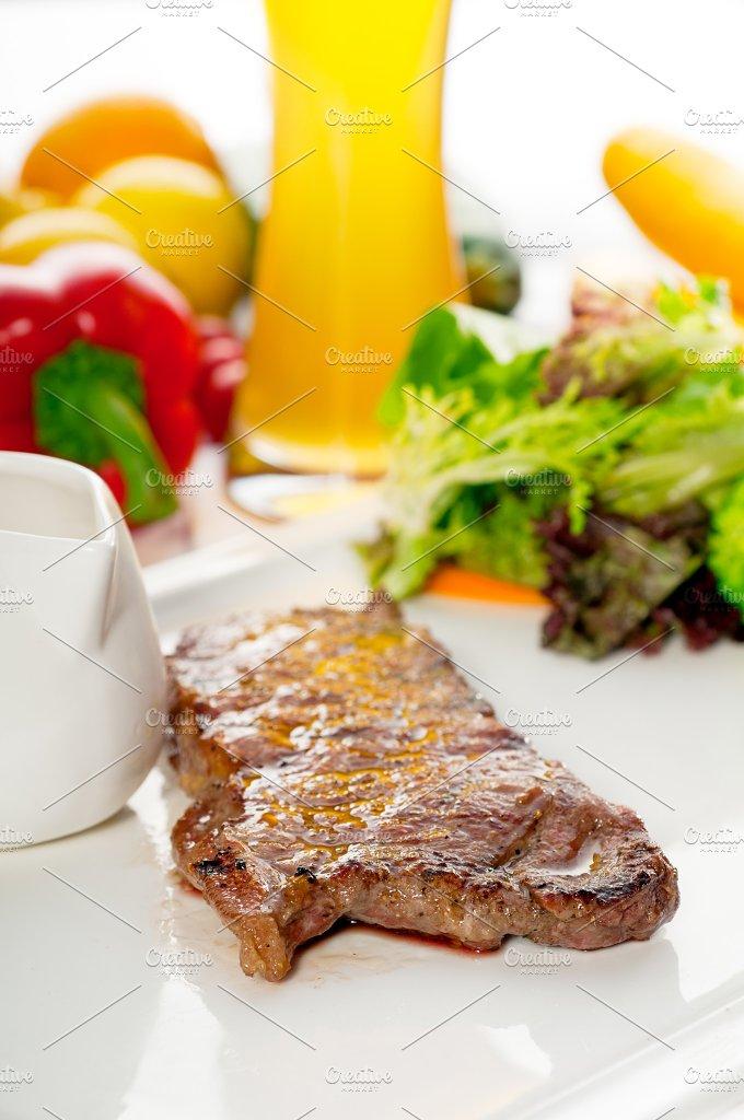 ribeye beef steak with fresh salad 05.jpg - Food & Drink