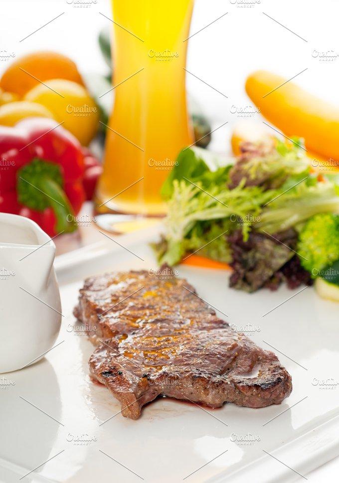 ribeye beef steak with fresh salad 06.jpg - Food & Drink
