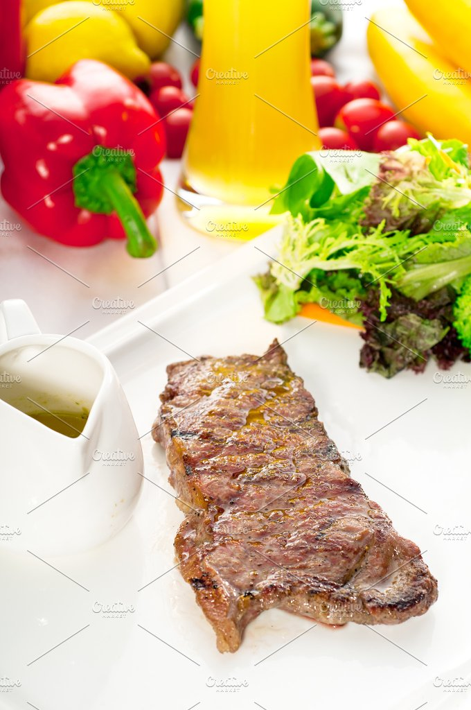 ribeye beef steak with fresh salad 04.jpg - Food & Drink