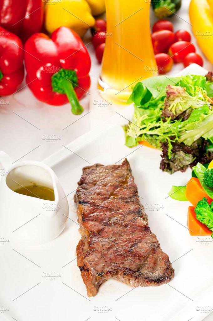 ribeye beef steak with fresh salad 10.jpg - Food & Drink
