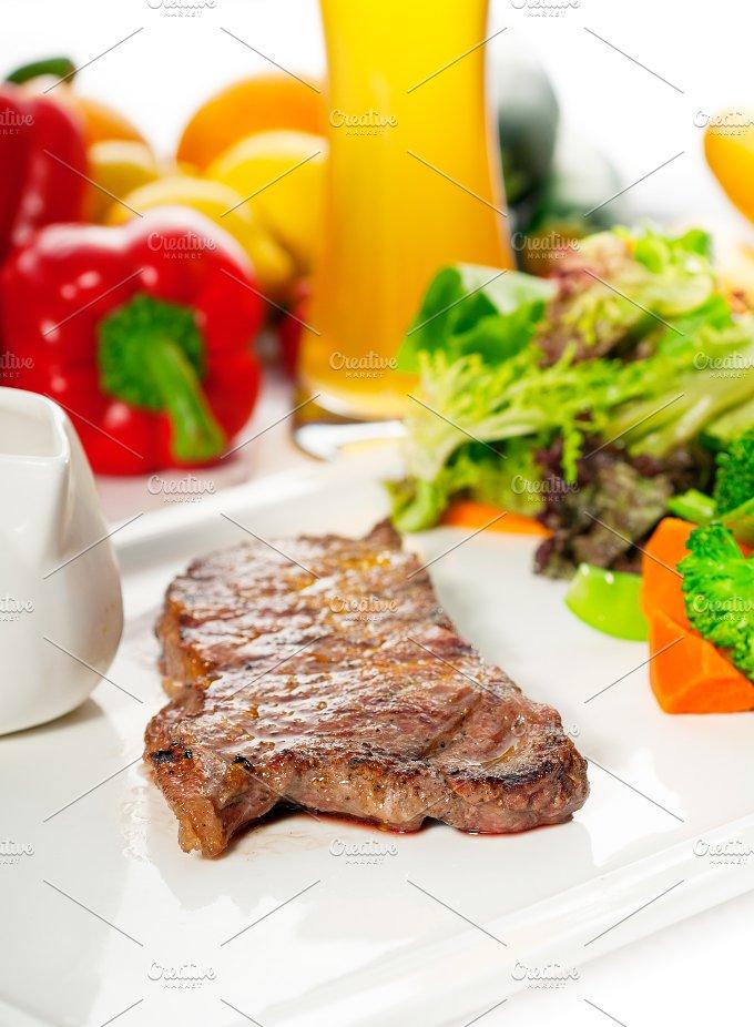 ribeye beef steak with fresh salad 11.jpg - Food & Drink