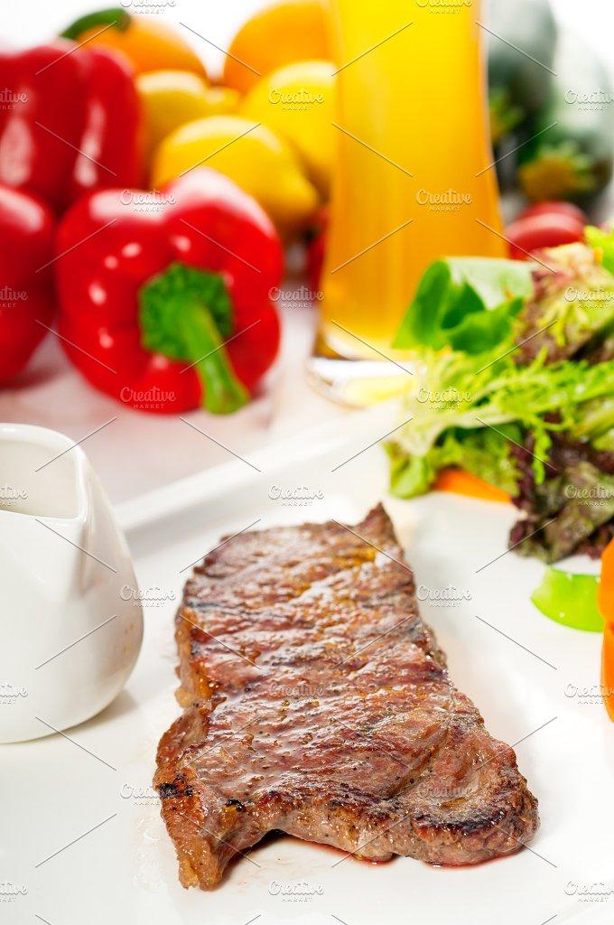 ribeye beef steak with fresh salad 12.jpg - Food & Drink