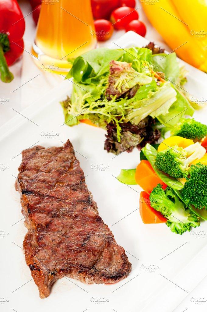 ribeye beef steak with fresh salad 16.jpg - Food & Drink